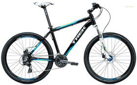 Велосипед Trek 3700 Disc Trek Black/Volt Green/Nysa Blue (2015) Рама 22.5""