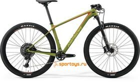 Велосипед Merida Big Seven 6000 Matt Olive (Signal Red/Lite Brown) 2018