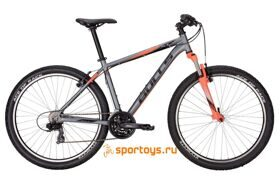 "Велосипед 17"" Bulls Pulsar Eco black matt (neon orange/white all matt)"