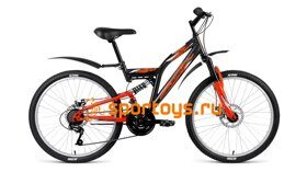 Велосипед FORWARD 24 ALTAIR MTB FS DISC ДвухПодвес 18ск