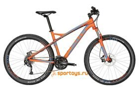 "Велосипед 17"" Bulls Wildtail Disc 27.5Ø black matt (orange/i-grey/cyan)"