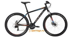 "Велосипед 17"" Bulls Wildtail Disc black matt (orange/i-grey/cyan)"