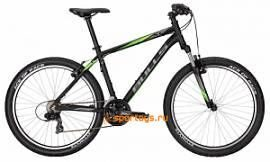 "Велосипед 17"" Bulls Pulsar black matt (i-grey/neon green all matt)"