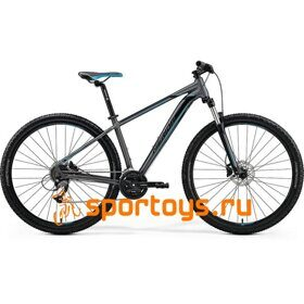 Велосипед Merida Big Seven 40-D MattDarkSilver/Blue (Black) 2019
