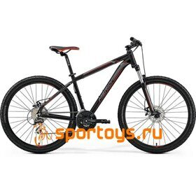 Велосипед Merida Big Seven 20-MD MattBlack/Silver/Red 2019