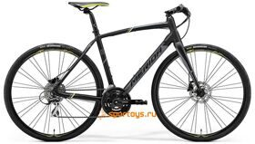 Велосипед Merida SPEEDER 100 Matt Black (Yellow/Grey) 2018