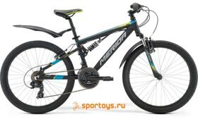 Велосипед Merida Matts J24 Ninety-Six Sus Black/Blue/Grey (2017) бесплатная доставка РФ
