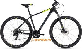 Велосипед CUBE AIM PRO 27.5Ø (black´n´flashyellow) 2018