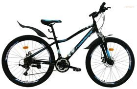 Велосипед 26 Nameless MTB S6200DW, сталь, 21 ск.DISC черный/синий