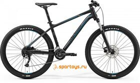 Велосипед Merida Big Seven 200 Matt Black (Silver/Blue) 2019